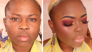 Smokey Red Eyes for WOC ft Yardie Cosmetics | B.O.M.B