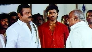 Tamil Movie Action Scenes # Vijayakanth & Vijay Best Acting Scenes # Senthoora Pandi Movie Scenes