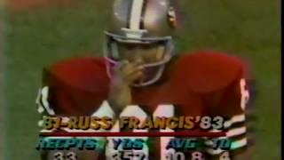 1984 Redskins @ 49ers Week 2