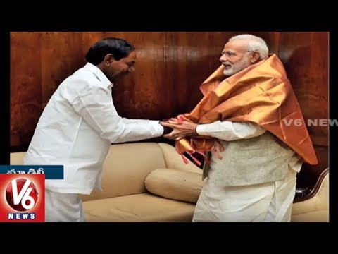 CM KCR Meets PM Modi | Seeks Assistance For State Development | New Delhi | V6 News