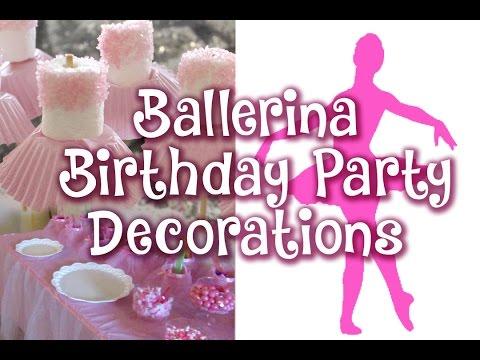 Ballerina Birthday Party decor -Vlog 44