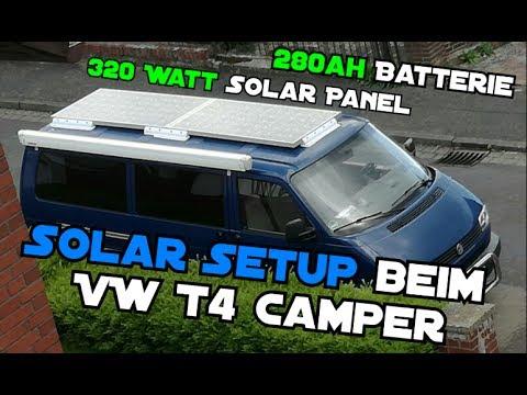 Vw California Camper >> Solar-Setup für den VW T4 Camper | 280ah Batterie | 320