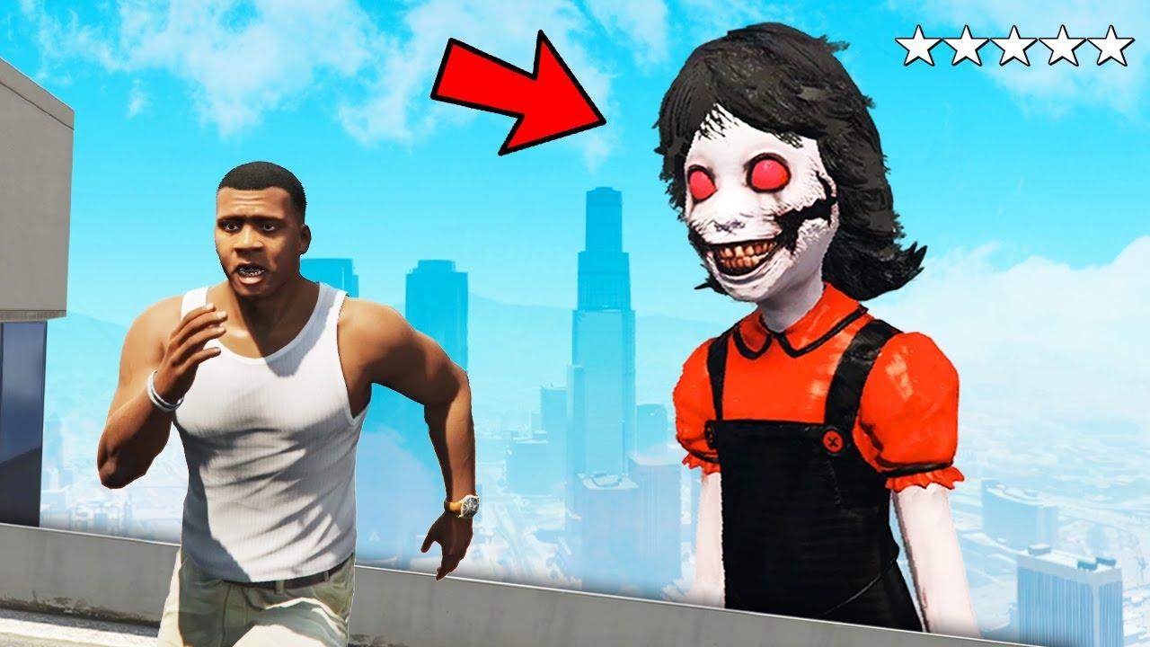 Scariest GHOST Attacked Me & Destroys Los Santos in GTA 5!
