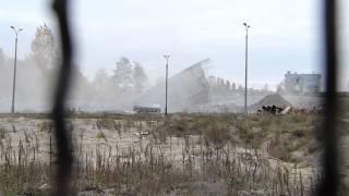 Wyburzanie komina EC-2 Elana Toruń / 1080p / Dłuższy film / 24.10.2012