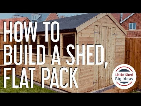 How to build a shed – Flat Pack style.