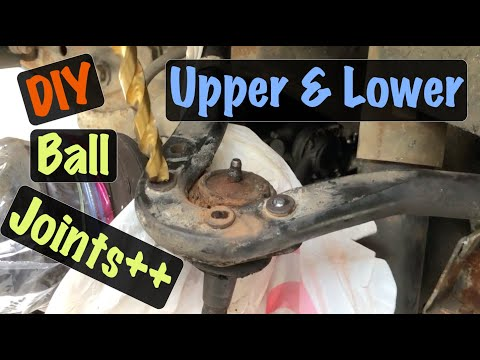 1992-00 GM 4WD K Truck Upper & Lower Ball Joints Replacement w/ Upper Bushings Repair (Chevy & GMC)