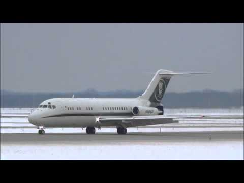 Glenn Beck's McDonnell Douglas DC-9 Plane Arriving at Gerald R Ford Airport (GRR) Grand Rapids MI