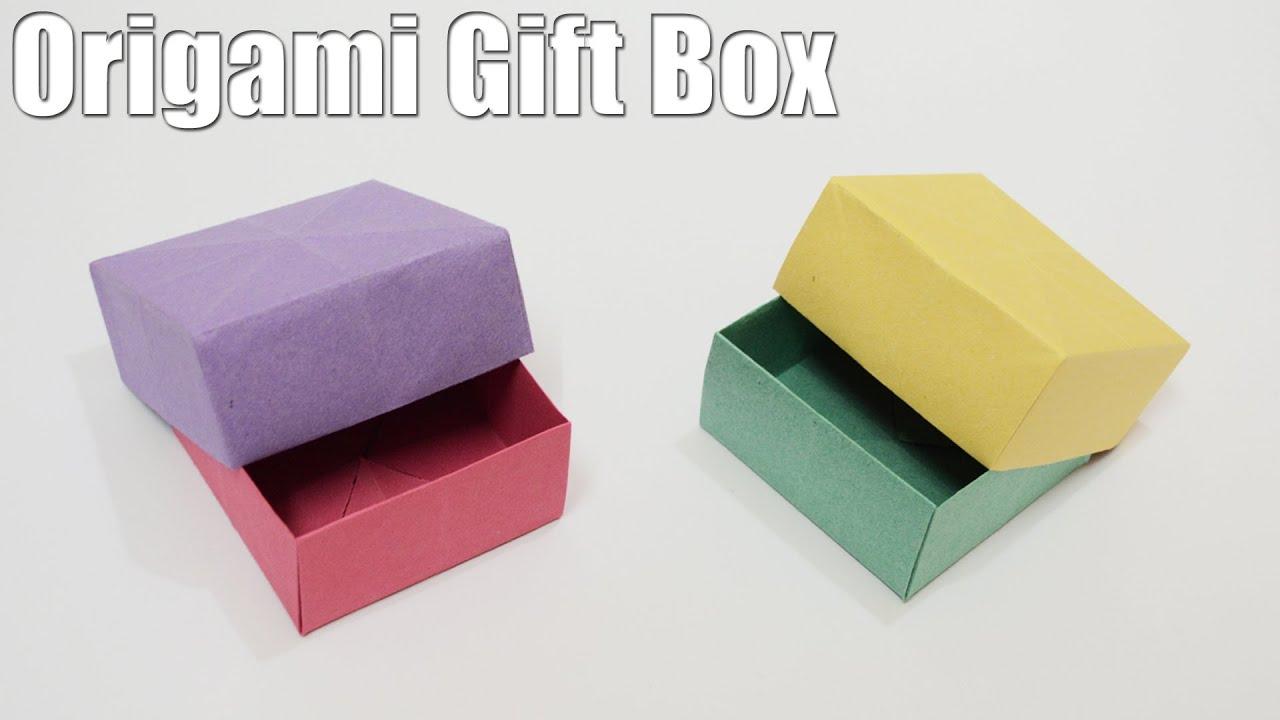 Origami Gift Box - Tutorial (Easy) - YouTube - photo#34