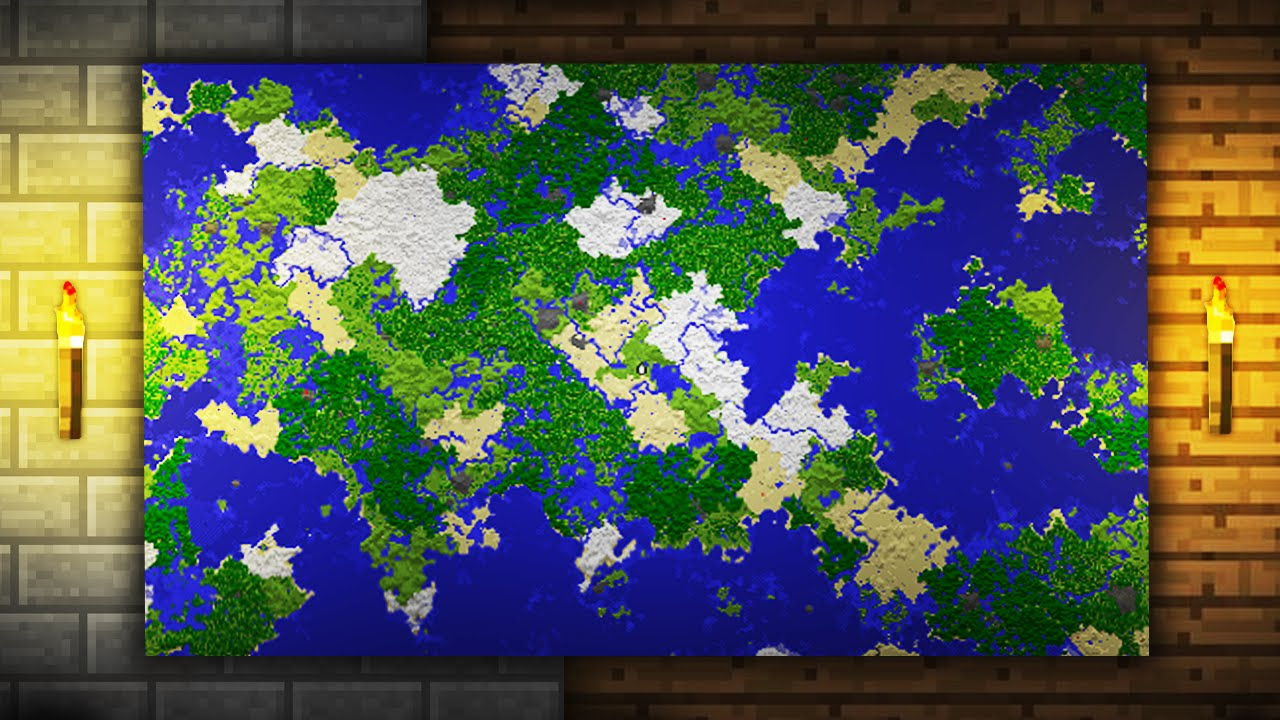 Minecraft Jak Zrobić Dużą Mapę Youtube