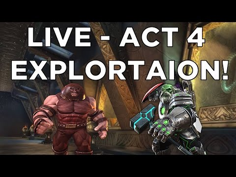 LIVE Q+A While Fullying Exploring Act 4! - Marvel Contest of Champions