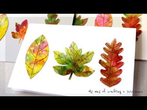 Watercolor Leaves Autumn/ Fall/ Thanksgiving Cards - Minimal Supplies & Recycle
