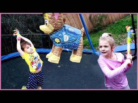 MYSTERY PAW PATROL PINATA STUFFED WITH AWESOME TOYS!