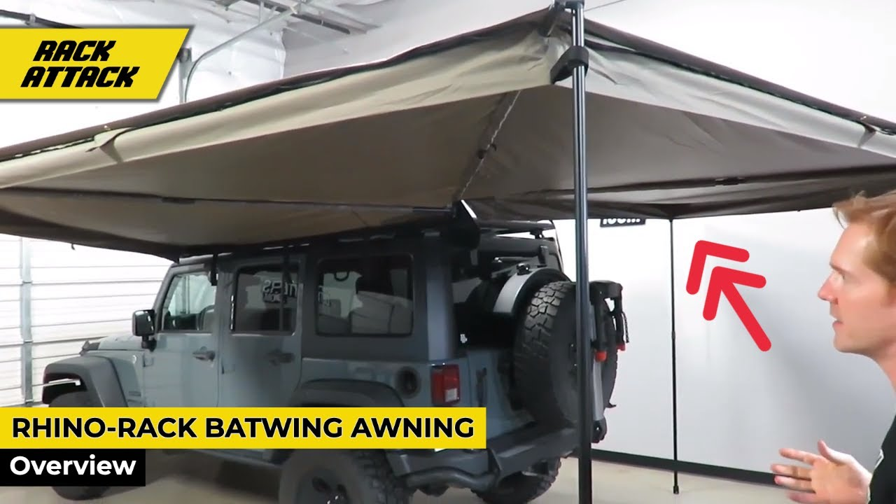 Rhino Rack Batwing Vehicle Roof Rack Mounted Awning