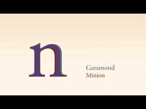 Garamond vs Minion
