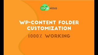 How to Rename WP-Content Folder successfully | 1000% Working