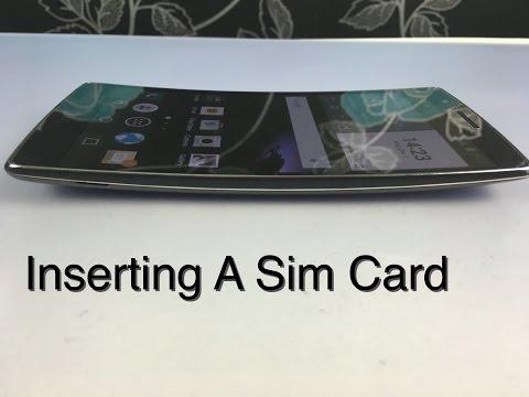 Insert A Sim Card Into LG G Flex 2
