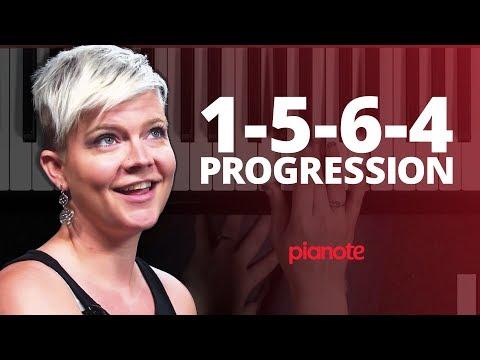 The 1-5-6-4 Chord Progression (Piano Lesson)
