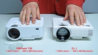 Projector Comparison: DBPower T20 vs Dr. J budget projector (side by side review)