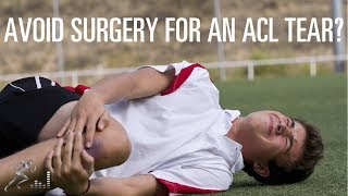 ACL injury: Nonsurgical treatment