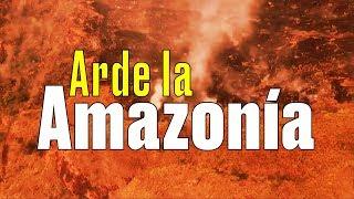 El incendio de la Amazonía visto desde el aire