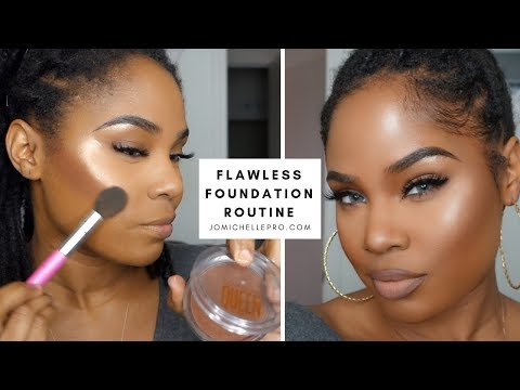 flawless foundation routine. | #jomichellepro | Loc Bun Tutorial