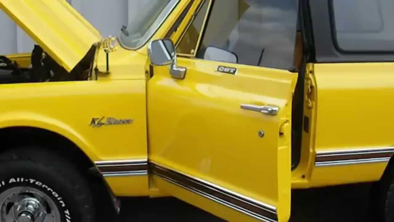 Blazer 1972 chevy k5 blazer 1972 Chevrolet K5 Blazer 4x4 Restored to Original - YouTube