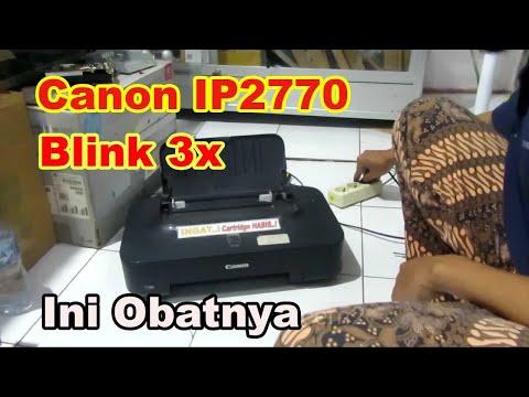 Lampu Orange Kedip 3 kali Canon iP2770 | Paper Jammed | Tidak menarik kertas.
