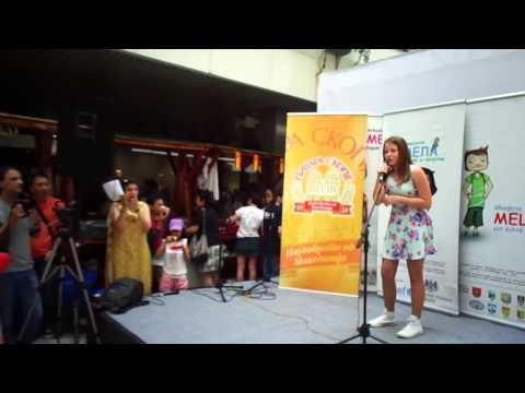 NOVA student Masha Samsonenko performing at the MWC Charity Bazaar 2015