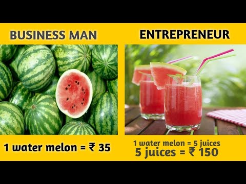 The difference in  between Businessman and Entrepreneur in telugu | how to think like entrepreneur |