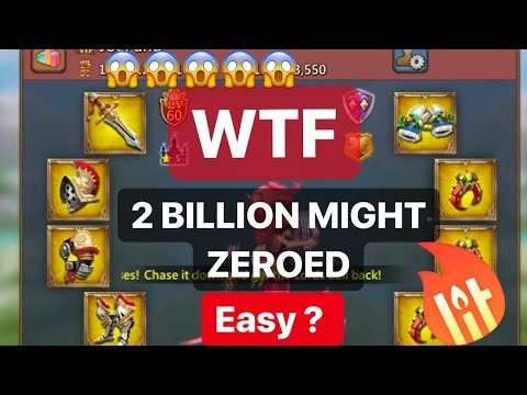 2 BILLION MIGHT CHAMPION GEAR ZEROED - Lords Mobile