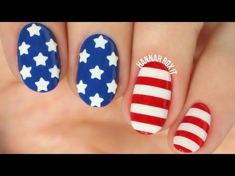 Stars & Stripes Nail Art + DIY Star Decals!