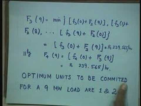 Lecture - 33 Optimal Unit Commitment