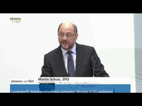 """Treffen der """"Progressive Alliance"""": Rede von Martin Schulz am 13.03.2017"""