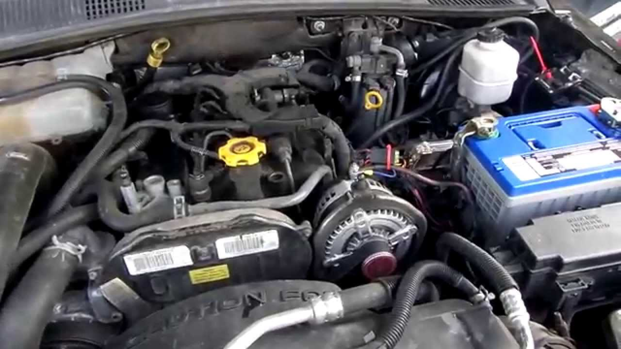 2005 Jeep Liberty CRD  Quick look under the hood  YouTube