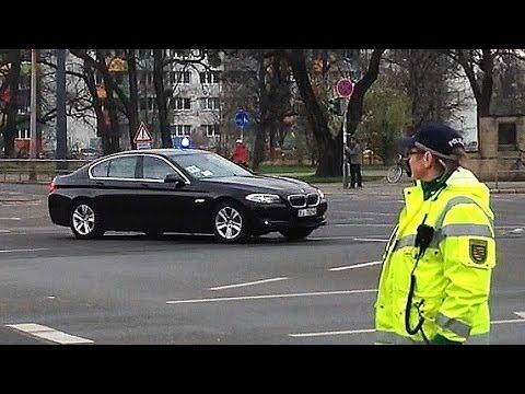 Vollsperrung am Straßburger Platz: Konvoi für Park Geun-hye