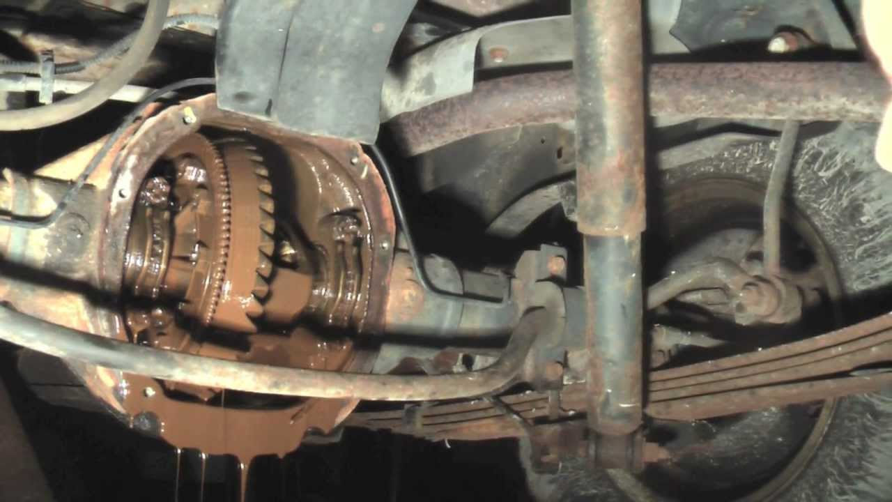 The Results of a Clogged Rear Axle Vent  YouTube