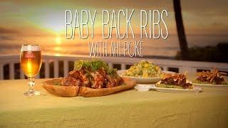 Hawaiian Baby Back Ribs And Ahi Poke