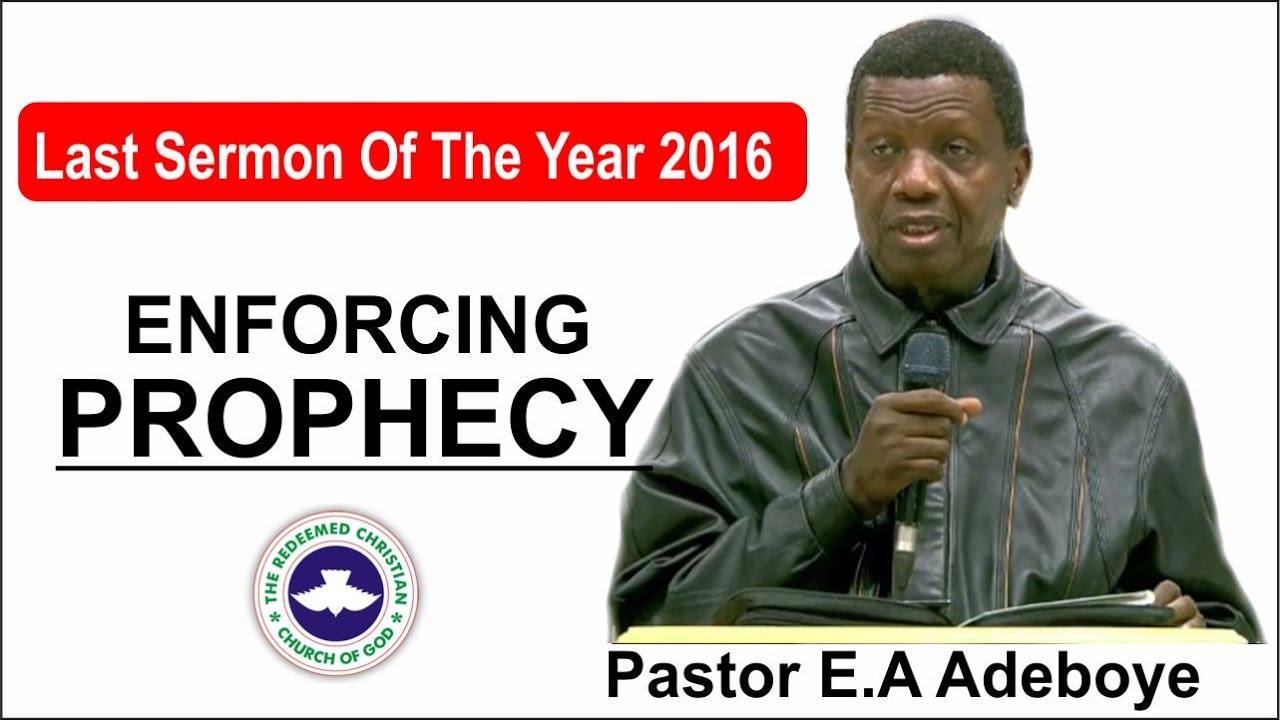 Download Pastor E.A Adeboye Last Sermon 2016 @ RCCG 2016 CROSSOVER NIGHT SERVICE