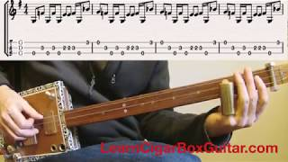 Crossroads blues for 3 string fretless - LearnCigarBoxGuitar.com