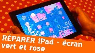 Réparer un écran iPad vert et rose - astuce tuto