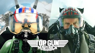 Top Gun: Maverick  - Official Trailer in LEGO - Side by Side Version