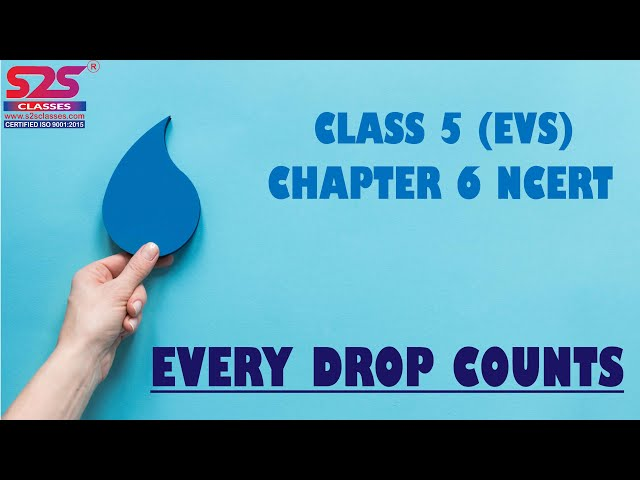 Every Drop Counts | Class 5 EVS Chapter 6