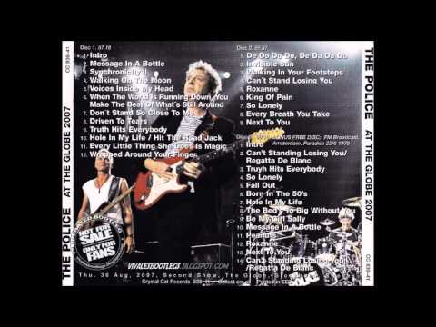 "The Police- Stockholm""Globe Arena"", Sweeden 30-08-2007 (FULL AUDIO SHOW)"
