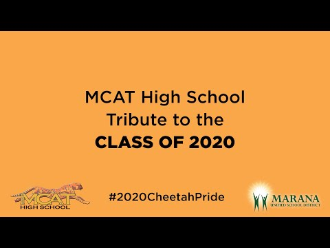 MCAT High School Tribute to the Class of 2020