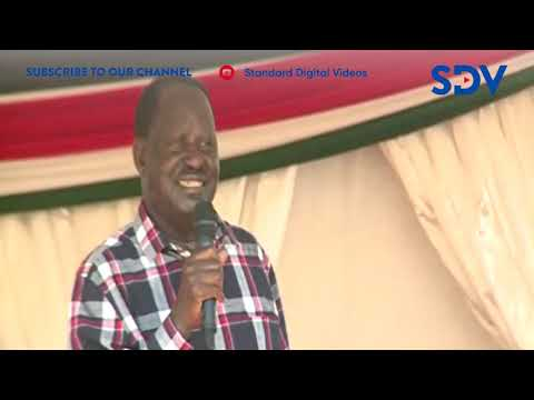 Raila Odinga sings his heart out to Likoni residents during Huduma Namba launch