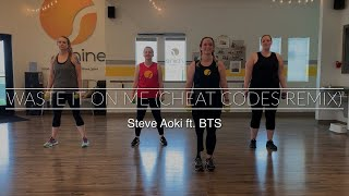 Waste It On Me (Cheat Codes Remix) Steve Aoki ft. BTS Cardio Dance Fitness Arms