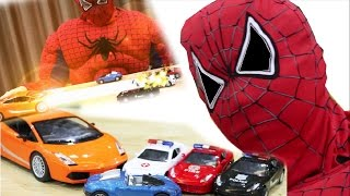 vuclip Sipderman play magic cars - cars in battle - cars toy HD