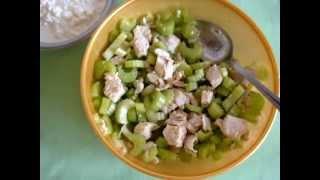 САЛАТ: сельдерей и курица