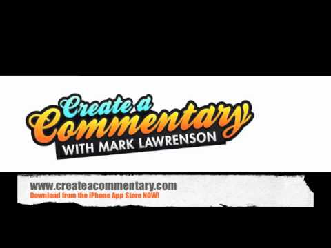 Create A Commentary With Mark Lawrenson - Personalised Football Commentary App