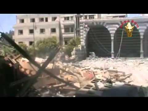 حمص - قصف جامع الصحابي خالد بن الوليد Homs - bombardement mosquée Khaled ibn al Walid